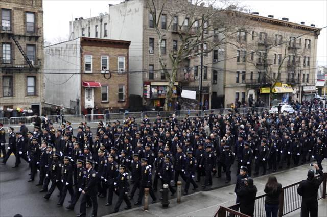 NYPD Officer Liu Funeral Service